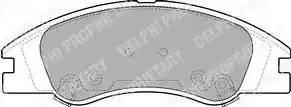Delphi LP1932 - Kit de plaquettes de frein, frein à disque www.widencarpieces.com