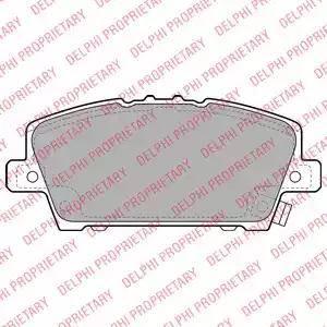 Delphi LP1970 - Kit de plaquettes de frein, frein à disque www.widencarpieces.com
