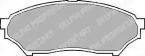 Delphi LP1448 - Kit de plaquettes de frein, frein à disque www.widencarpieces.com