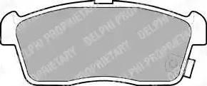 Delphi LP1442 - Kit de plaquettes de frein, frein à disque www.widencarpieces.com