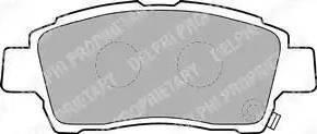 Delphi LP1414 - Kit de plaquettes de frein, frein à disque www.widencarpieces.com