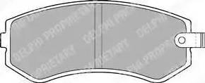 Delphi LP1544 - Kit de plaquettes de frein, frein à disque www.widencarpieces.com