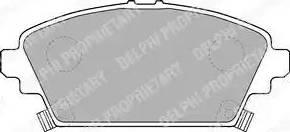 Delphi LP1503 - Kit de plaquettes de frein, frein à disque www.widencarpieces.com