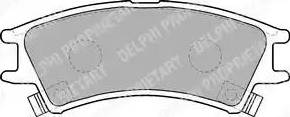 Delphi LP1502 - Kit de plaquettes de frein, frein à disque www.widencarpieces.com