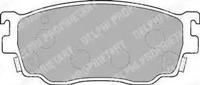 Delphi LP1527 - Kit de plaquettes de frein, frein à disque www.widencarpieces.com