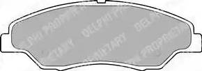 Delphi LP1634 - Kit de plaquettes de frein, frein à disque www.widencarpieces.com