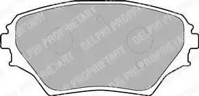 Delphi LP1632 - Kit de plaquettes de frein, frein à disque www.widencarpieces.com