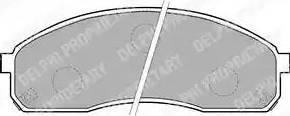 Delphi LP1671 - Kit de plaquettes de frein, frein à disque www.widencarpieces.com