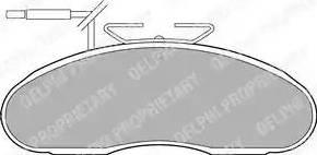 Delphi LP1096 - Kit de plaquettes de frein, frein à disque www.widencarpieces.com