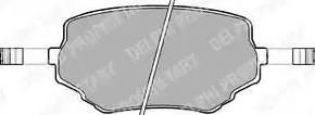 Delphi LP1015 - Kit de plaquettes de frein, frein à disque www.widencarpieces.com