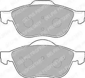 Delphi LP1844 - Kit de plaquettes de frein, frein à disque www.widencarpieces.com