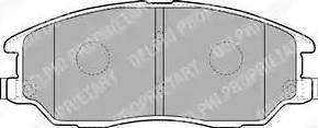 Delphi LP1857 - Kit de plaquettes de frein, frein à disque www.widencarpieces.com