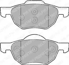 Delphi LP1862 - Kit de plaquettes de frein, frein à disque www.widencarpieces.com
