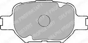 Delphi LP1804 - Kit de plaquettes de frein, frein à disque www.widencarpieces.com