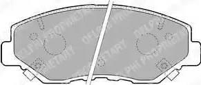 Delphi LP1806 - Kit de plaquettes de frein, frein à disque www.widencarpieces.com