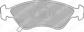 Delphi LP1303 - Kit de plaquettes de frein, frein à disque www.widencarpieces.com
