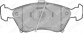 Delphi LP1231 - Kit de plaquettes de frein, frein à disque www.widencarpieces.com