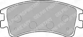 Delphi LP1799 - Kit de plaquettes de frein, frein à disque www.widencarpieces.com