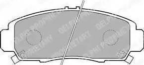 Delphi LP1704 - Kit de plaquettes de frein, frein à disque www.widencarpieces.com