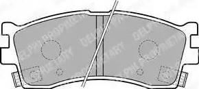Delphi LP1702 - Kit de plaquettes de frein, frein à disque www.widencarpieces.com