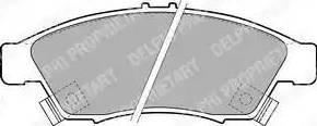 Delphi LP1739 - Kit de plaquettes de frein, frein à disque www.widencarpieces.com