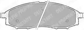 Delphi LP1772 - Kit de plaquettes de frein, frein à disque www.widencarpieces.com