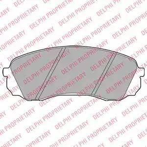 Delphi LP2094 - Kit de plaquettes de frein, frein à disque www.widencarpieces.com