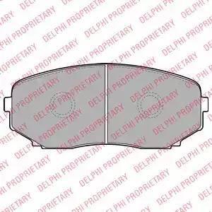 Delphi LP2098 - Kit de plaquettes de frein, frein à disque www.widencarpieces.com