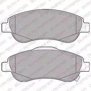 Delphi LP2093 - Kit de plaquettes de frein, frein à disque www.widencarpieces.com