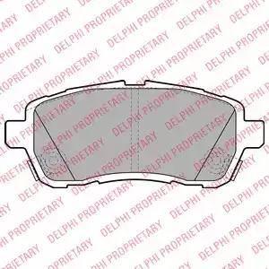 Delphi LP2069 - Kit de plaquettes de frein, frein à disque www.widencarpieces.com