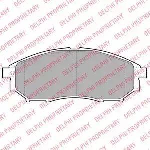 Delphi LP2030 - Kit de plaquettes de frein, frein à disque www.widencarpieces.com