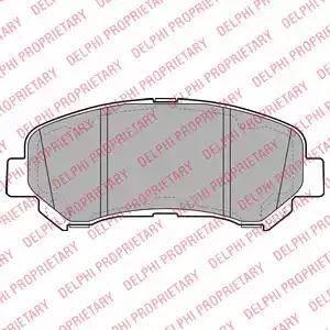 Delphi LP2031 - Kit de plaquettes de frein, frein à disque www.widencarpieces.com