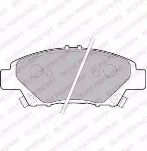 Delphi LP2194 - Kit de plaquettes de frein, frein à disque www.widencarpieces.com
