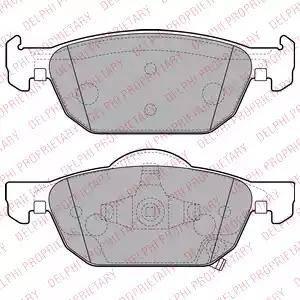 Delphi LP2144 - Kit de plaquettes de frein, frein à disque www.widencarpieces.com