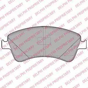 Delphi LP2104 - Kit de plaquettes de frein, frein à disque www.widencarpieces.com