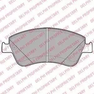 Delphi LP2102 - Kit de plaquettes de frein, frein à disque www.widencarpieces.com