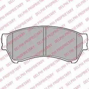 Delphi LP2111 - Kit de plaquettes de frein, frein à disque www.widencarpieces.com