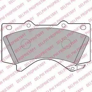 Delphi LP2134 - Kit de plaquettes de frein, frein à disque www.widencarpieces.com