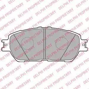 Delphi LP2132 - Kit de plaquettes de frein, frein à disque www.widencarpieces.com