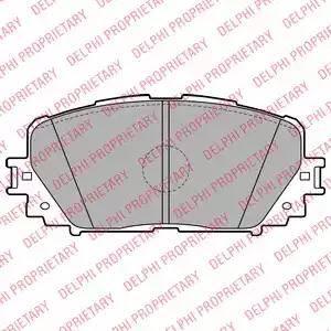 Delphi LP2123 - Kit de plaquettes de frein, frein à disque www.widencarpieces.com