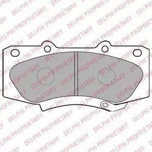 Delphi LP2244 - Kit de plaquettes de frein, frein à disque www.widencarpieces.com