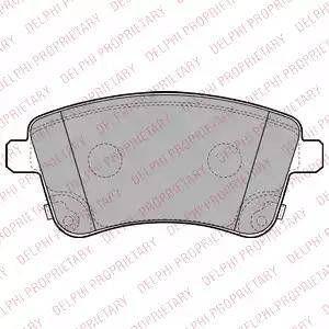 Delphi LP2203 - Kit de plaquettes de frein, frein à disque www.widencarpieces.com