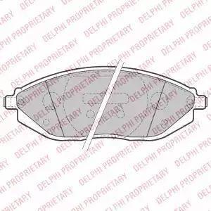 Delphi LP2218 - Kit de plaquettes de frein, frein à disque www.widencarpieces.com