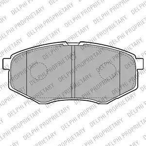 Delphi LP2227 - Kit de plaquettes de frein, frein à disque www.widencarpieces.com