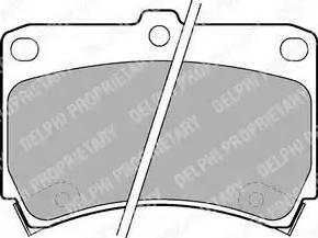 Delphi LP743 - Kit de plaquettes de frein, frein à disque www.widencarpieces.com