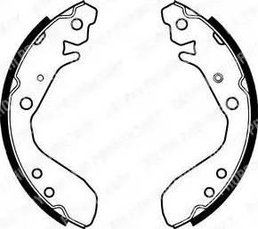 Delphi LS1984 - Jeu de freins, freins à tambour www.widencarpieces.com
