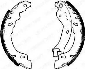 Delphi LS1971 - Jeu de freins, freins à tambour www.widencarpieces.com