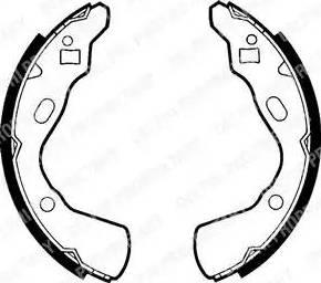 Delphi LS1437 - Jeu de freins, freins à tambour www.widencarpieces.com