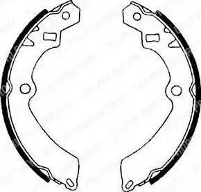 Delphi LS1599 - Jeu de freins, freins à tambour www.widencarpieces.com