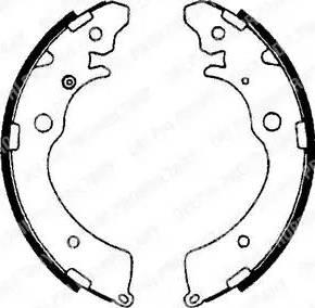 Delphi LS1641 - Jeu de freins, freins à tambour www.widencarpieces.com
